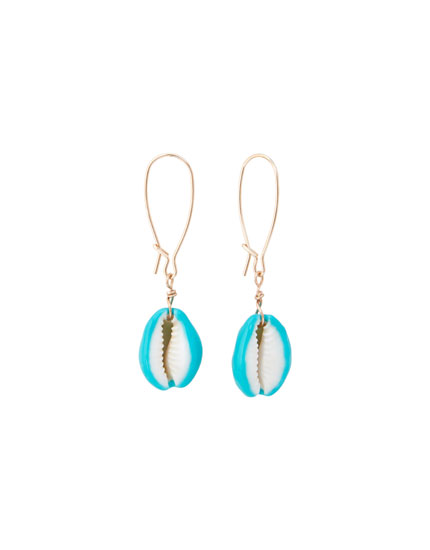 Boucles d'oreilles coquillages turquoise