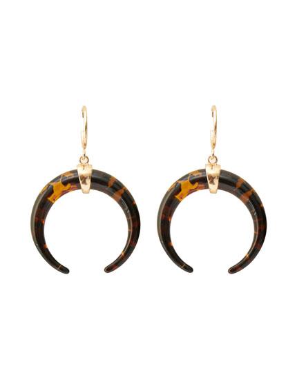 Boucles d'oreille créoles demi-lune à écailles