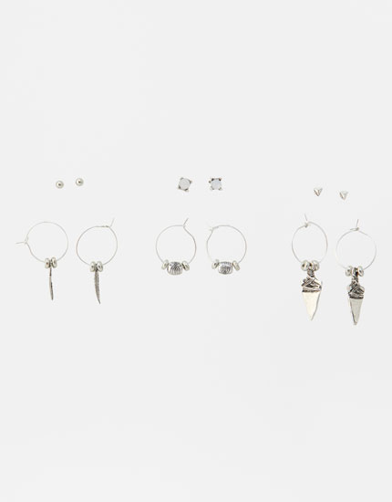 Pack of 6 feather and arrow earrings