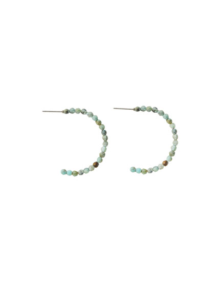 Hoop earrings with stones