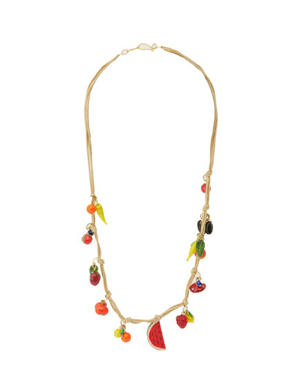 Fruit cord necklace