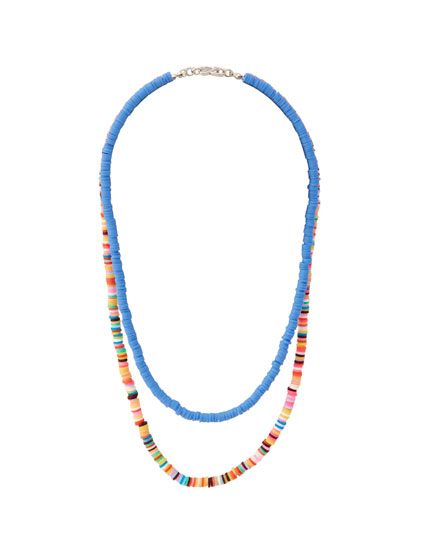 2-pack of colourful bead necklaces