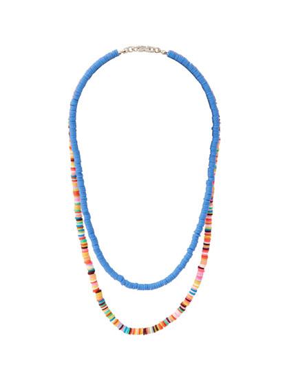 Lot 2bracelets perles couleurs