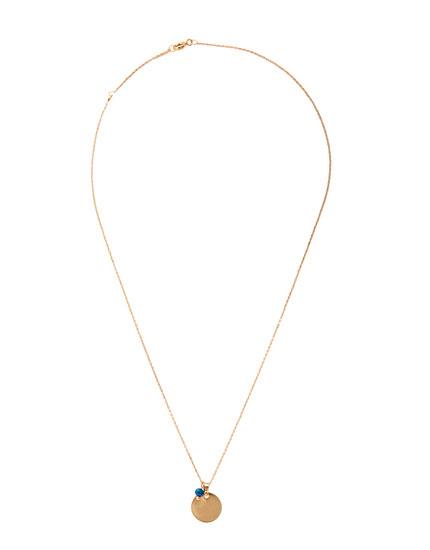 Metallic plate necklace