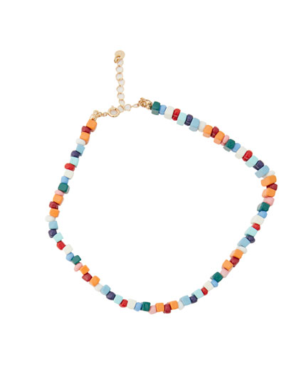 Multicoloured choker necklace