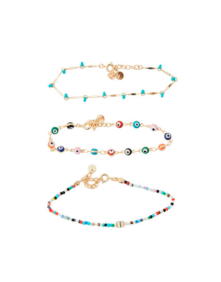 Pack of 3 eye bracelets