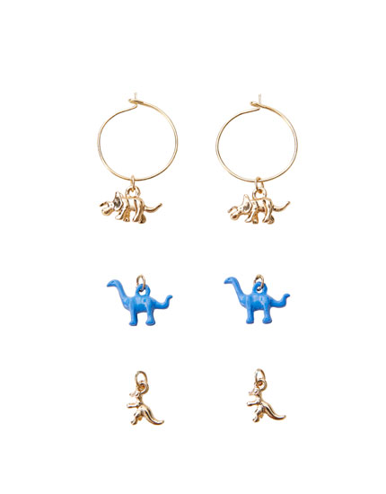 4-pack of dinosaur earrings