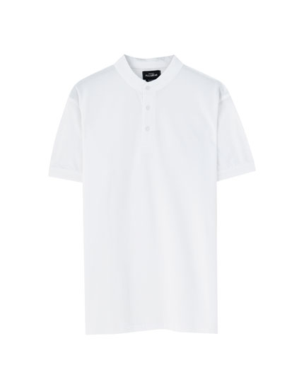 cef8ed4d6 Basic round neck T-shirt. 12.99 · Stand-up collar piqué polo shirt