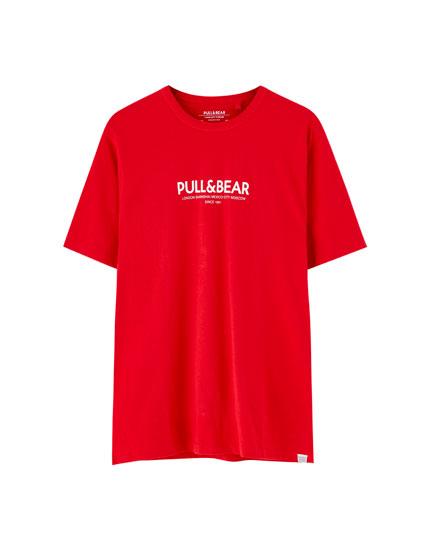 T-shirt com logótipo Pull&Bear de cidades