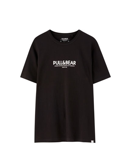 T-shirt logo Pull&Bear villes