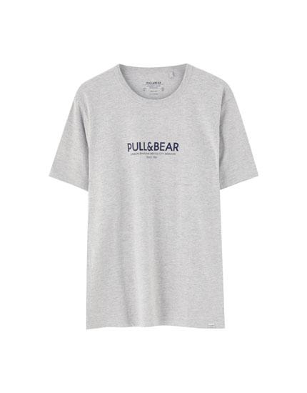 Camiseta logo Pull&Bear ciudades