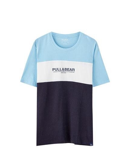 Camiseta 3 paneles manga corta