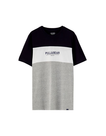 T-shirt manches courtes 3bandes de couleur