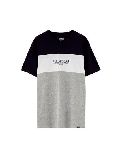 Κοντομάνικη μπλούζα με 3 λωρίδες