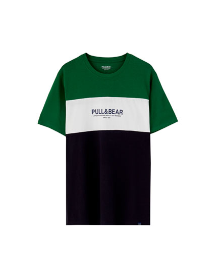 Short sleeve T-shirt with 3 panels