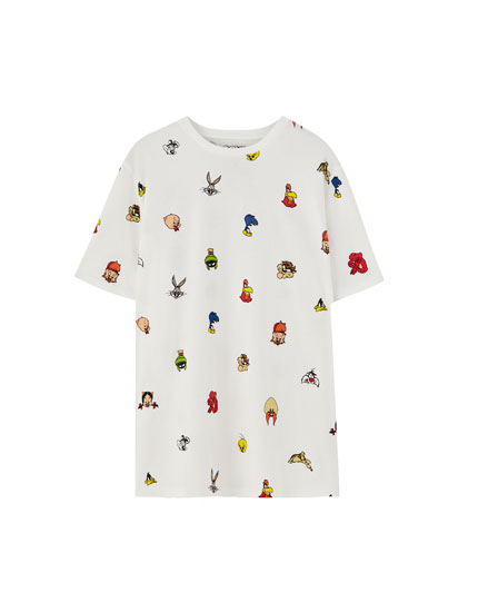 T-shirt Looney Tunes com estampado