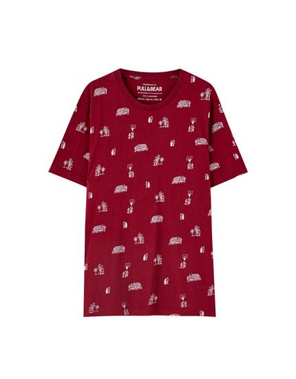 Camiseta print tarta