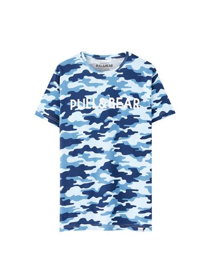 Μπλούζα με λογότυπο Pull&Bear σε διάφορα χρώματα
