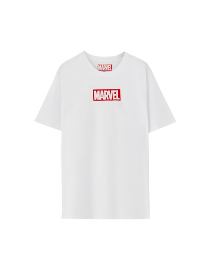 Marvel-Shirt mit Stickerei
