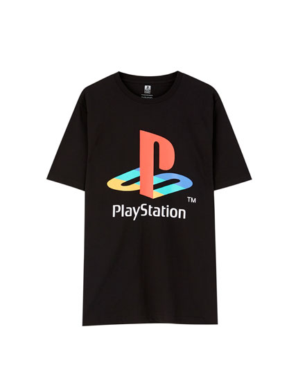 Black PlayStation T-shirt