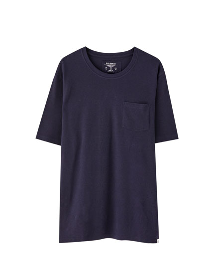 T-shirt de piqué com bolso