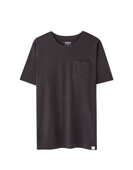 Piqué T-shirt with pocket