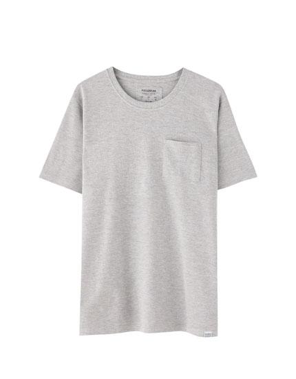 Piqué T-shirt with pocket
