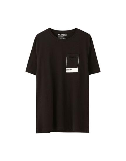 Black Pantone logo T-shirt
