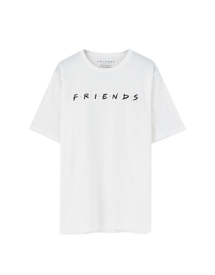 T-shirt Friends com logótipo branca