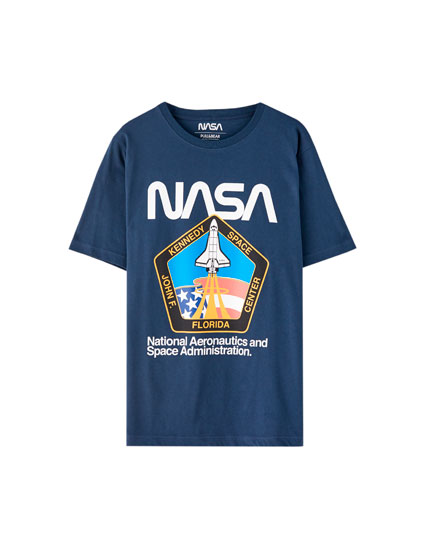 Camiseta NASA negra