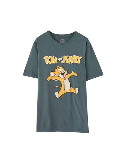 T-shirt do Tom & Jerry preta
