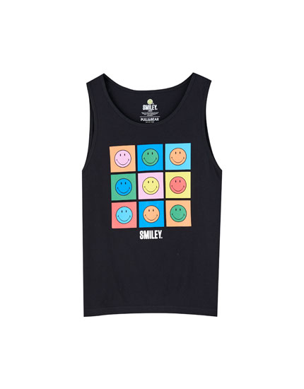 Smiley face vest top