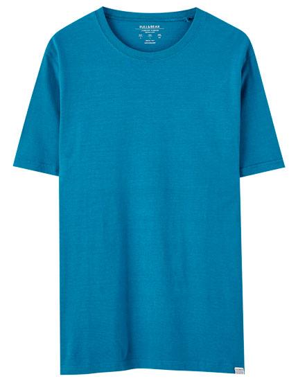 T-shirt básica de manga curta colorida