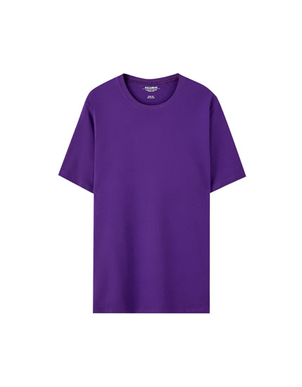 Basic colourful short sleeve T-shirt