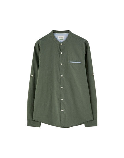 Stand-up collar shirt