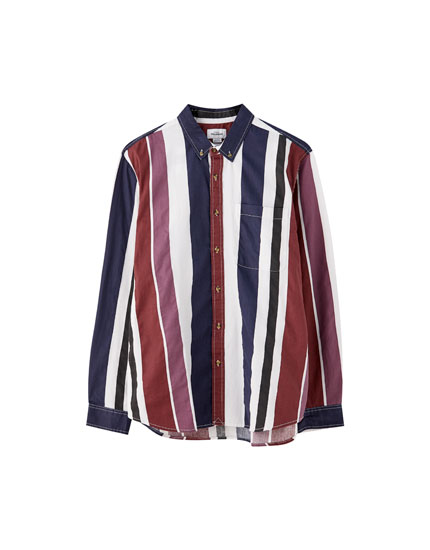 Vertical stripe vintage shirt