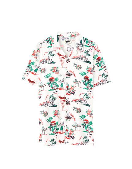 Skjorte i viskose Aloha