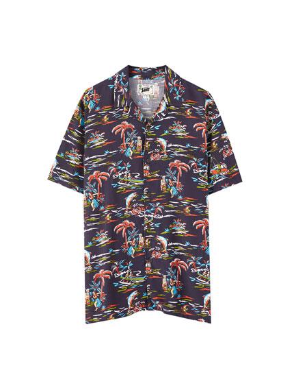 Camisa viscosa aloha