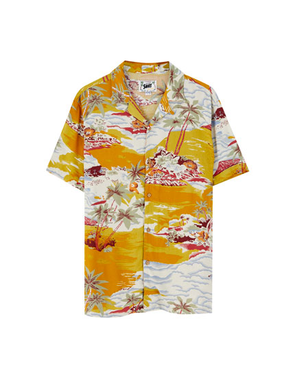 Camisa de viscose Hawaii