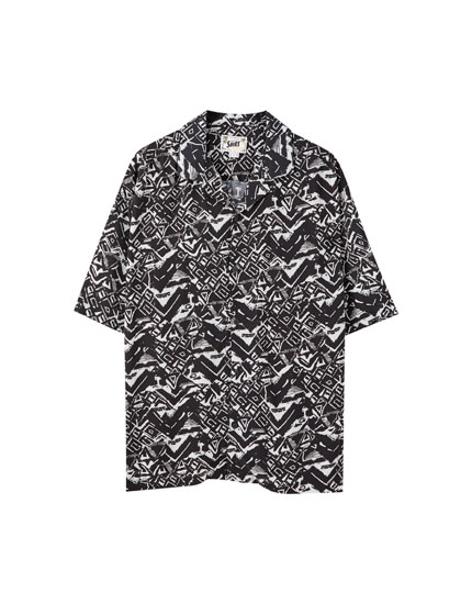 Camisa viscosa estampat geomètric