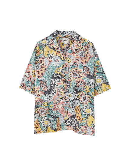 Multiprint viscose shirt