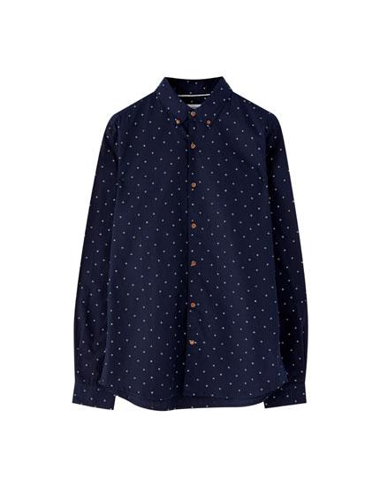 Camisa de popelina com estampado