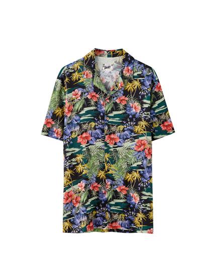 Camisa viscosa estampado floral
