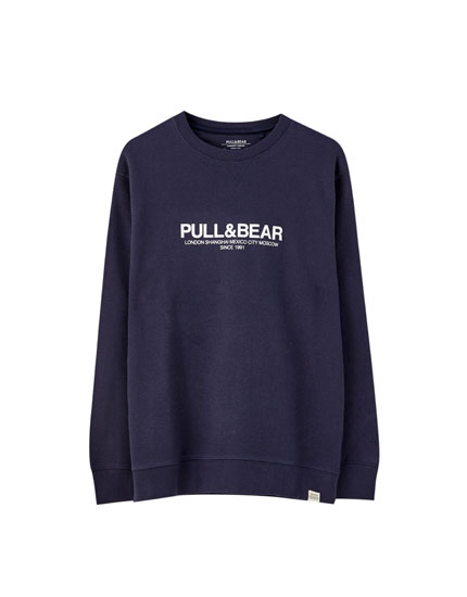 Basic logo sweatshirt with city names
