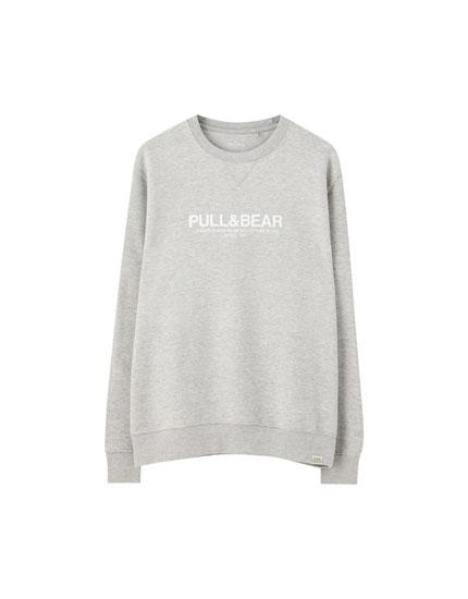 Basic logo sweatshirt with city names