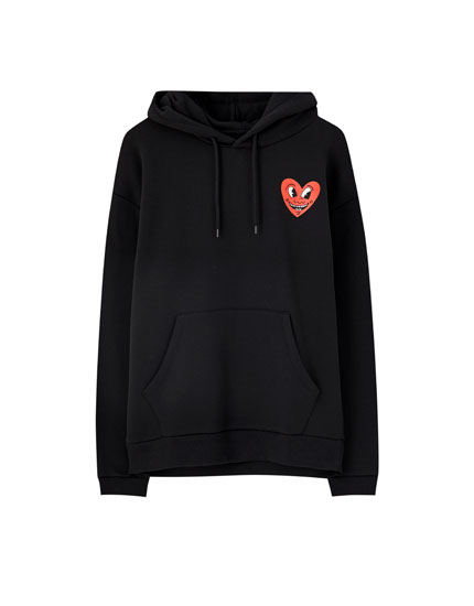 Φούτερ με καρδιά Keith Haring