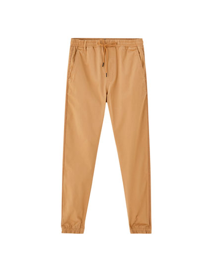 Beach trousers with side taping