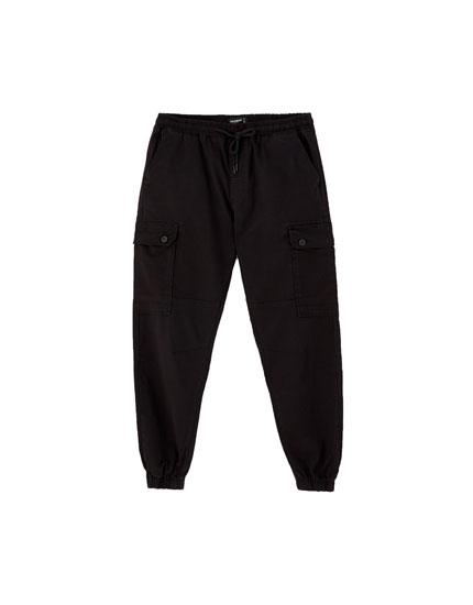 Plain cargo beach trousers
