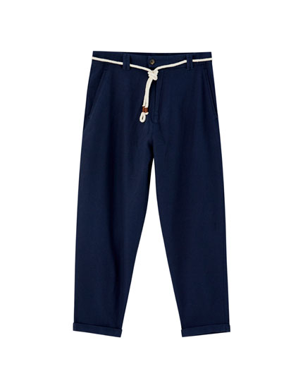 Linen chino trousers