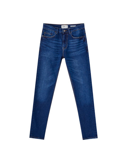 Texans slim comfort fit blau fosc